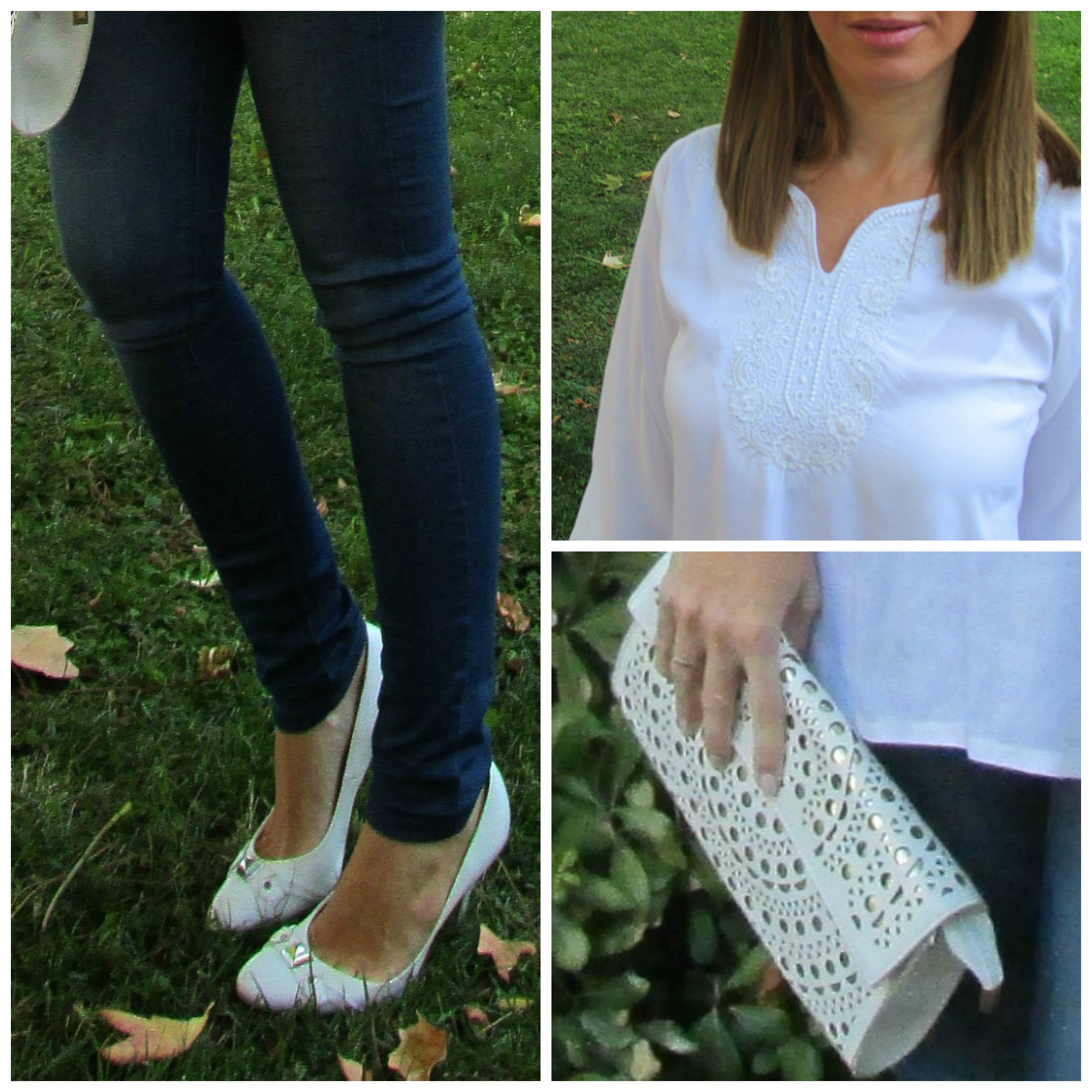 Jeans: ABERCROMBIE; Shoes: FOSCO; Handbag: VINTAGE; BLOUSE: (BOUGHT IN DUBAI);Sunnies:RAY-BAN