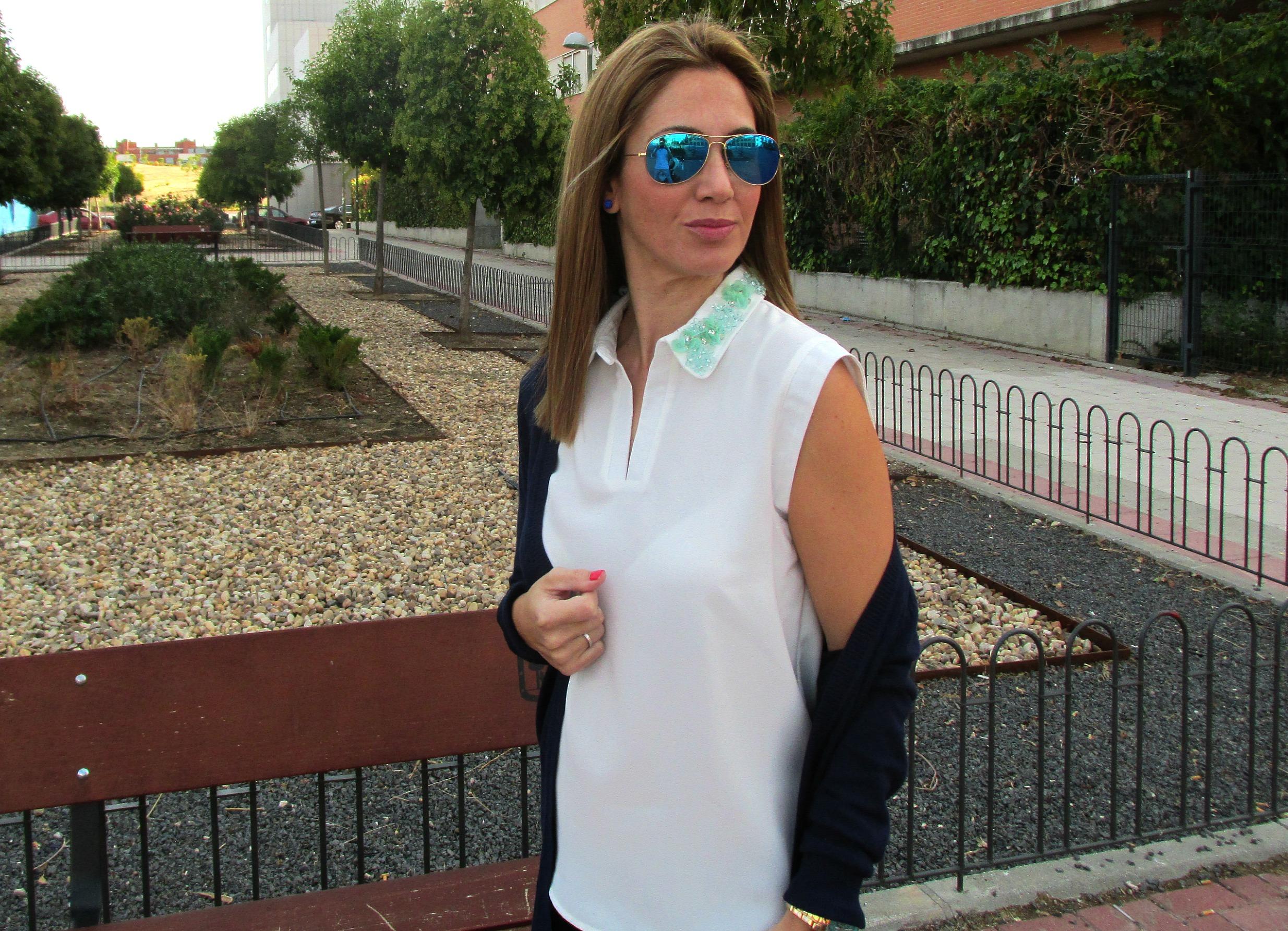 Navy blue basics fashion blog 5
