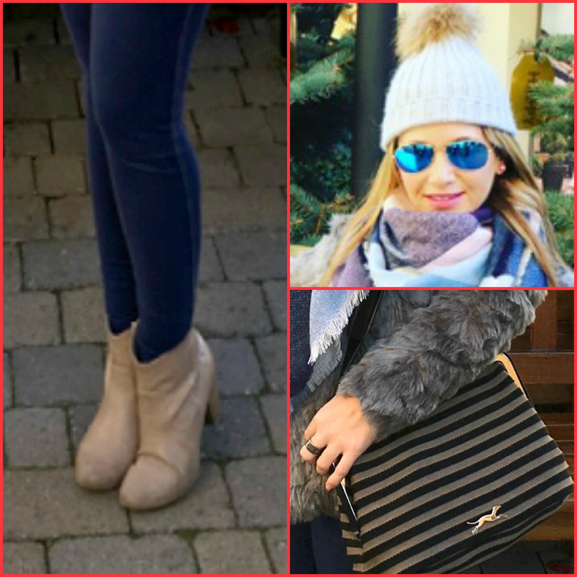 Pants: SUPER SLIM FIT MAMA H&M; Booties: S-OLIVER; Coat: FOREVER 21; Ring: CAROLINA HERRERA; Scarf: STRADIVARIUS (fall/winter 2016-2017); Sunglasses: RAY-BAN; Handbag: BIMBA  Y LOLA;