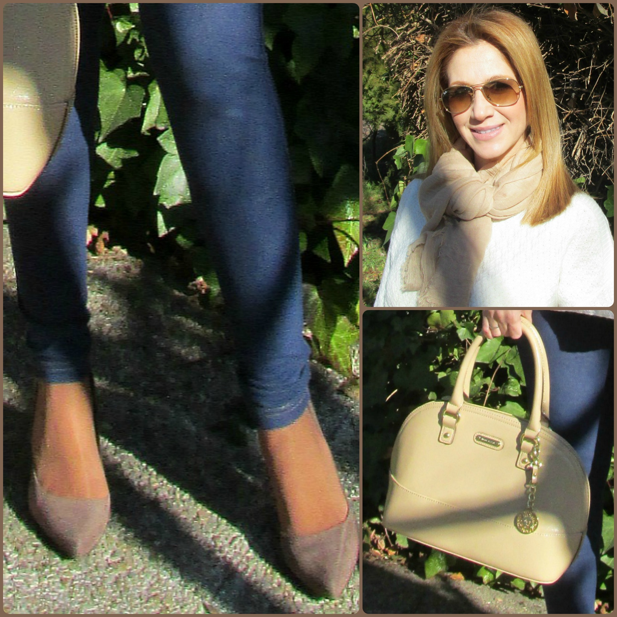 Jeans: H&M slim fit mama; Throw: PARFOIS; Jersey: SFERA (Winter ´16-´17); Shoes: MARYPAZ; Bag: ANNE KLEIN; Sunglasses: RAY-BAN.