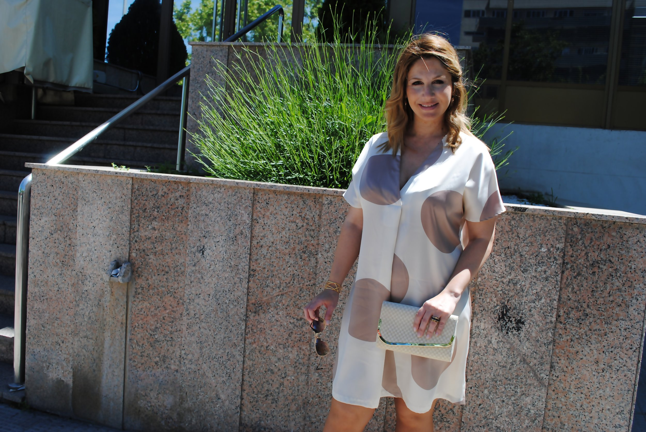white and beige dress 3
