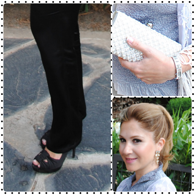 Pants: ZARA (old); Shoes: MANGO (old); Earrings: PARFOIS; Swatch: DKNY; Top: ADOLFO DOMINGUEZ; Kimono: Laura Ashley;  Hairstyle: MARCO ALDANY SANCHINARRO