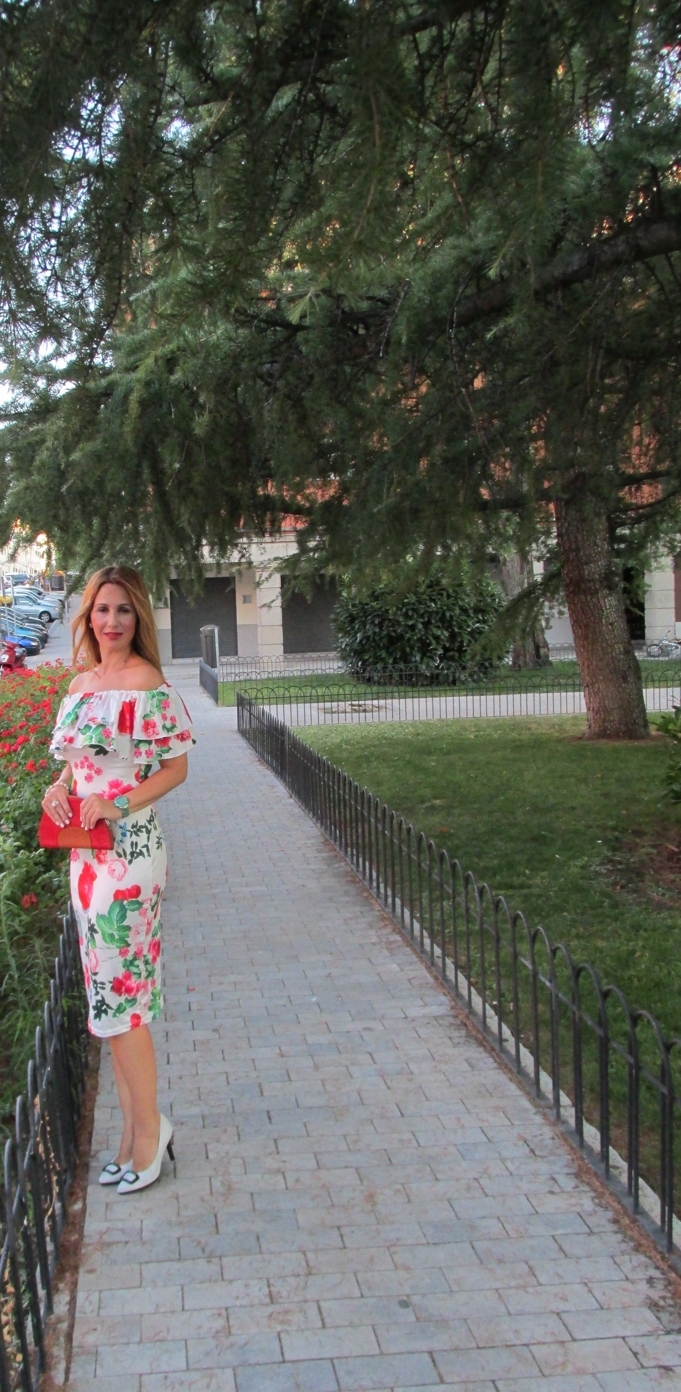 floral print dress fashion blog