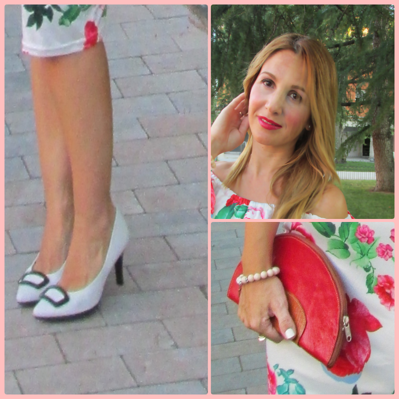 Floral dress: LIGHTINTHEBOX; Shoes: HISPANITAS; Swatch: GUESS;