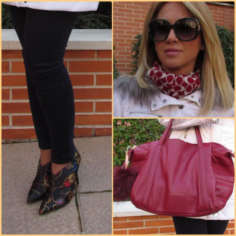 OUTFIT DETAILS: Shoes: ZARA (sales) Pants: ZARA (old); Bag: SALVADOR BACHILLER; Scarf: COACH; Coat: BEBE;