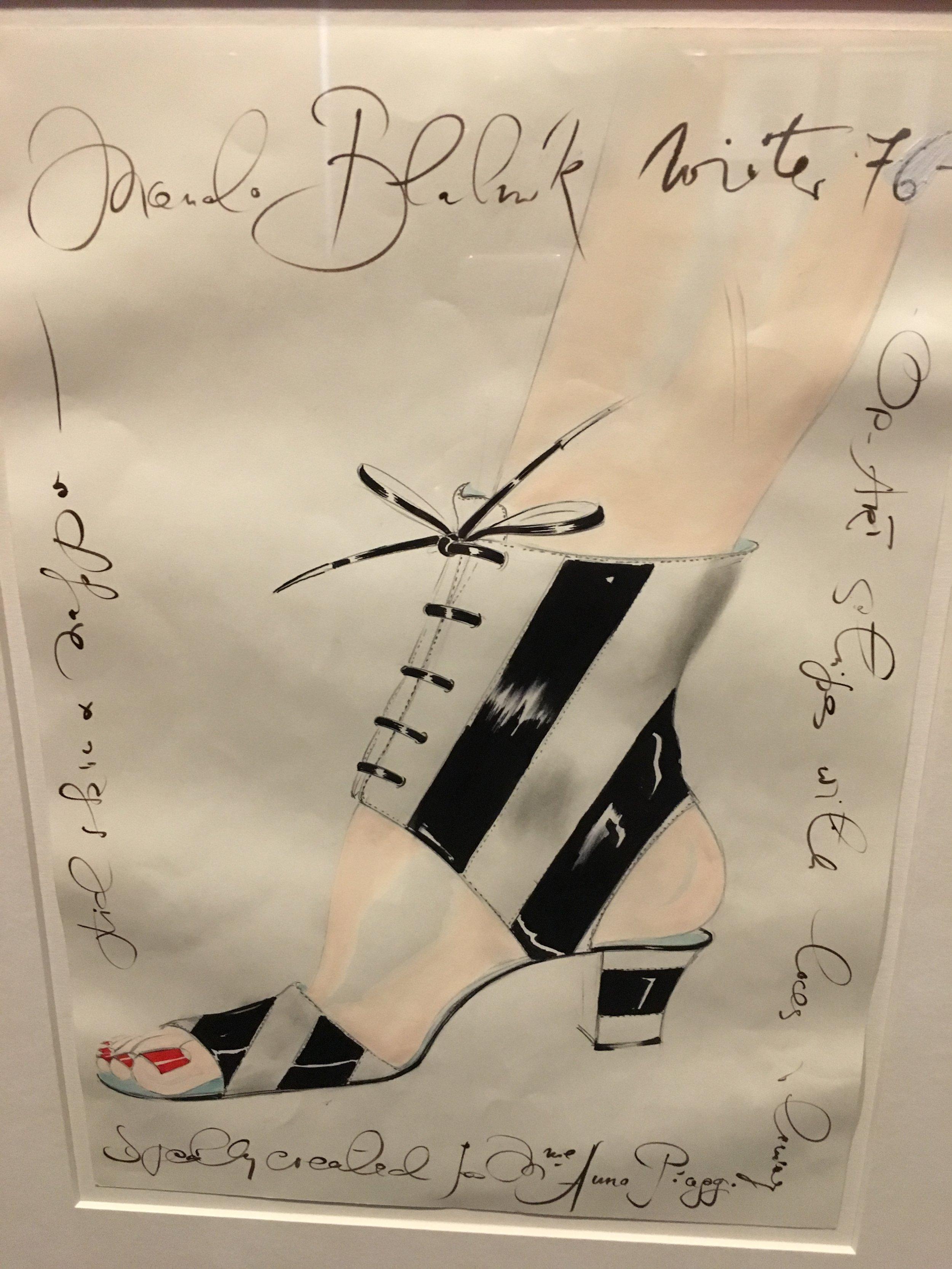Manolo BLahnik drawing