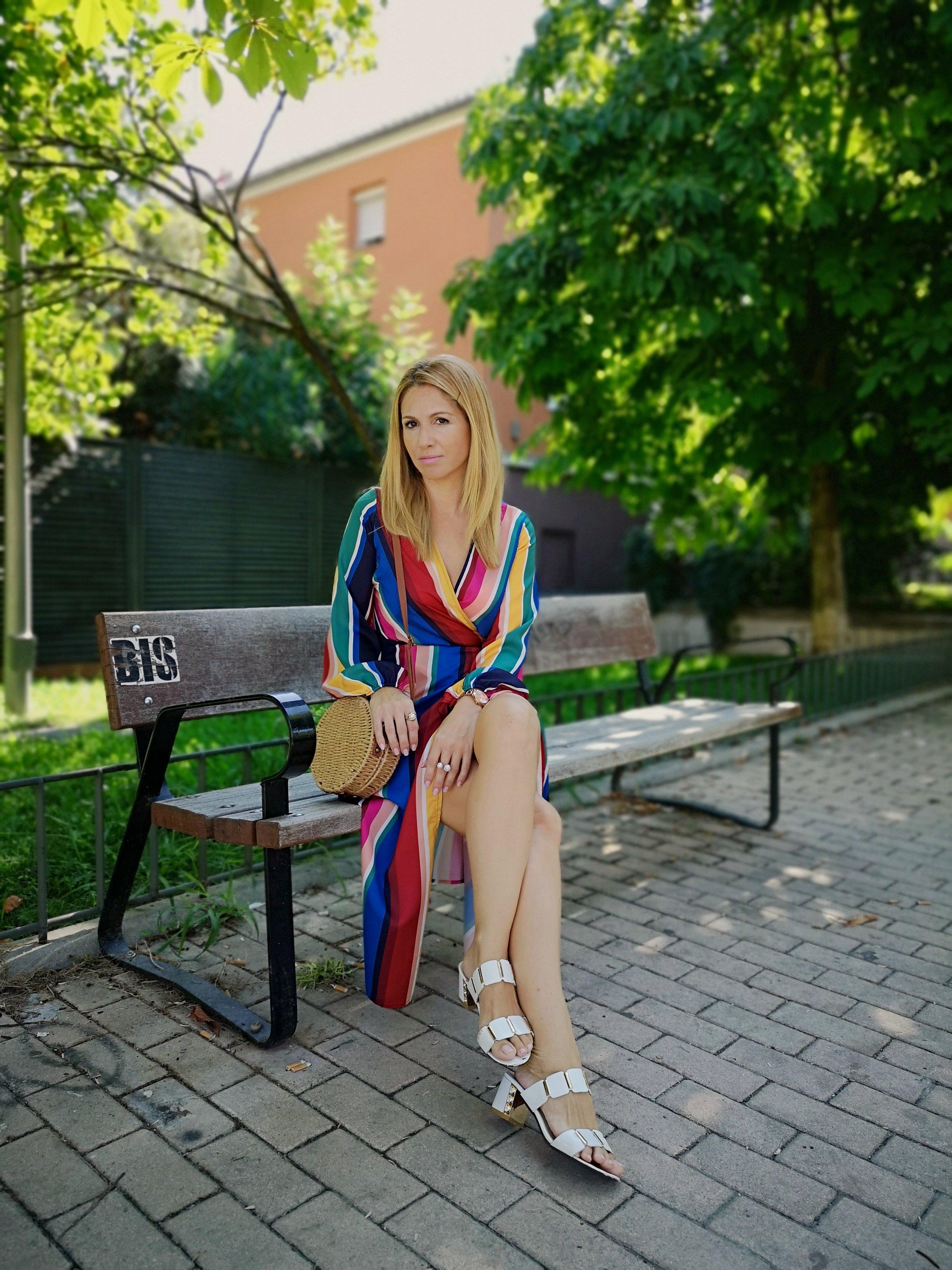 OUTFIT DETAILS: Dress: PRIMARK; Sandals: DRESSLILY; Bag: ZAFUL; Sunnies: ZARA; Ring: ZAFUL;