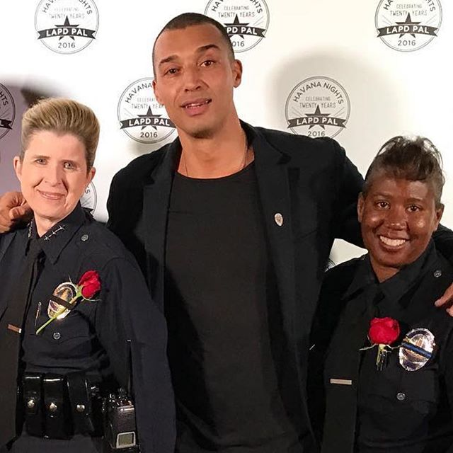 Beautiful moments of connection with Beatrice Girmala, assistant Chief of the LAPD at the Police Activity League Gala in Hollywood. Beatrice is the highest ranked female in the @lapdhq and truly one of the warmest, kindest, most loving souls one could meet! The fact that a soft spoken strong women with such amazing energy is responsible for leading some of the most specialized and badass special forces within the LAPD makes me feel safe and hopeful!🙏🏼⚡️💛👮🏻‍♀️ #policechief #lapd #strongwomen #loveenforcement