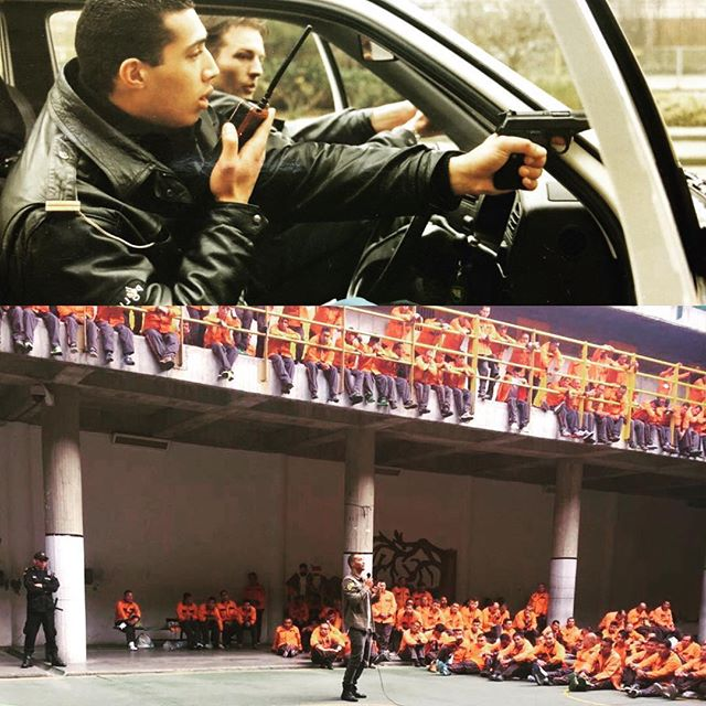 A lot can change over the course of 22 years! 🙉 In the upper section of this photo I'm training vehicle procedures at the Dutch Police Academy in 1996, while in the bottom section I'm speaking to 300 prison inmates on the power of forgiveness, compassion and love. Even though there is a huge difference between the two scenes, I clearly see how one could not exist without the other. It was only through my experiences as a police officer that I gained the necessary inspiration to propel me onto the path I'm on today. Everything in our experience is connected in ways that are often only revealed to us later on in life. From my perspective, we all came here with a purpose that unfolds itself as we move through time. If you feel like you haven't fully connected to your purpose or are feeling confused about where life is leading you, these are the question I asked myself that helped me find the answers I was looking for. If money was not an issue, what gift would you choose to selflessly share with the world? What natural skills and talents do you have that could serve a clear need in your community? These questions lead me to focus on the skills I already had and simply connected them to what the world needs today. For me that lead me on a mission using my past experiences as a police officer and my skills as a coach to support the building of bridges between communities. What's your purpose and mission? Let's connect and create the changes that this world needs, TOGETHER! Share your purpose and mission below ✨👇🏼🙏🏼😀#loveenforcement #buildingbridges #purpose #community #prison #lawenforcement #motivation #coaching #findyourpurpose #leo #sheriff #police