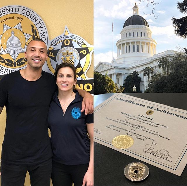Thank you @code9project for inviting me to an unforgettable experience during this weeks Law Enforcement & EMT Peer Support and PTSD Training hosted by the Sacramento Sheriff's Association. In order to heal our planet we have to heal our society and in order to heal our society we have to heal ourselves first. A lack of Social/Emotional Education, Peer Support and undiagnosed PTSD among first responders is one of the root causes for many of the tragedies we read about in the news. Thank you @code9project for not only addressing this important issue, but for taking the powerful actions necessary to create the changes that will benefit our communities. I look forward to supporting you guys in the future!  #lawenforcement #peersupport #education #positive #change #nlp #coaching #loveenforcement