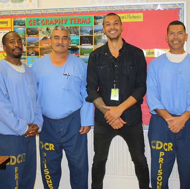 I'm grateful for the opportunity to connect with such beautiful humans on both sides of the fence of the Criminal Justice system. The more time I spend with those who are incarcerated, those who Serve and Protect and those who are at-risk, the more I see how similar we all are. WE ARE ALL HUMAN and our experiences in life are merely the results of the choices we made under the circumstances we were given. Cop or Con, from my perspective we all came here to heal and grow towards our fullest potential. By opening ourselves to receive one another other without judgement we unlock the power needed to alchemize our hate into love, fear into courage and  judgement into compassion. I thank the men in these pictures for their commitment to their growth and the courage to share themselves so openly and vulnerably. #healing #prison #loveenforcement #sharing #storytelling #compassion #forgiveness #buildingbridges #lawenforcement #criminal #justice #coaching