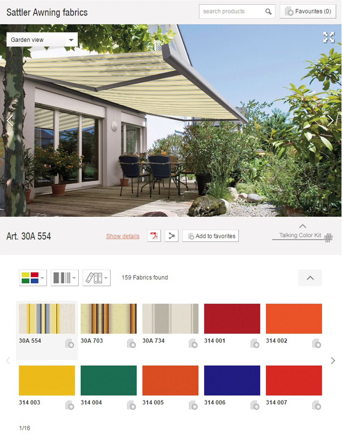 click on image for  Sattler Awning fabrics app