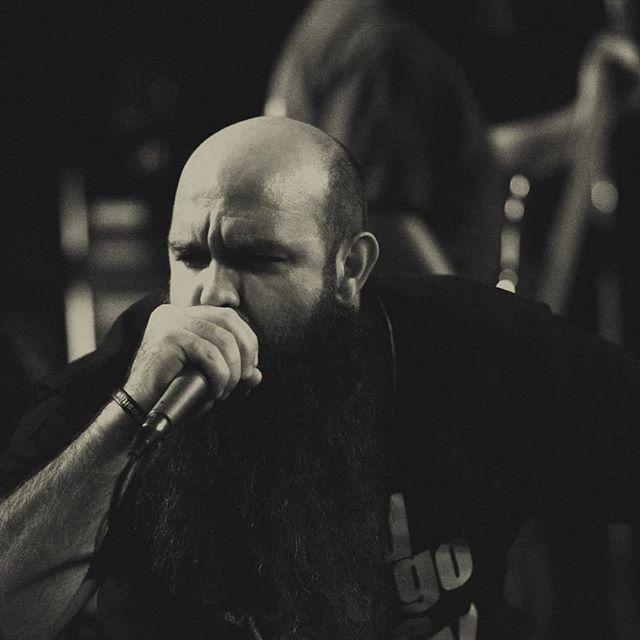 A man on a mission  @bryansingleton1  Photo credit: @octobersunphotoco  #deathmetal #lifemetal #metalforlife #festivalsubmission #mic #beard