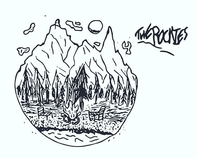 The Rockies! _______________________  #canada #alberta #adobeshape #drawing #doodle