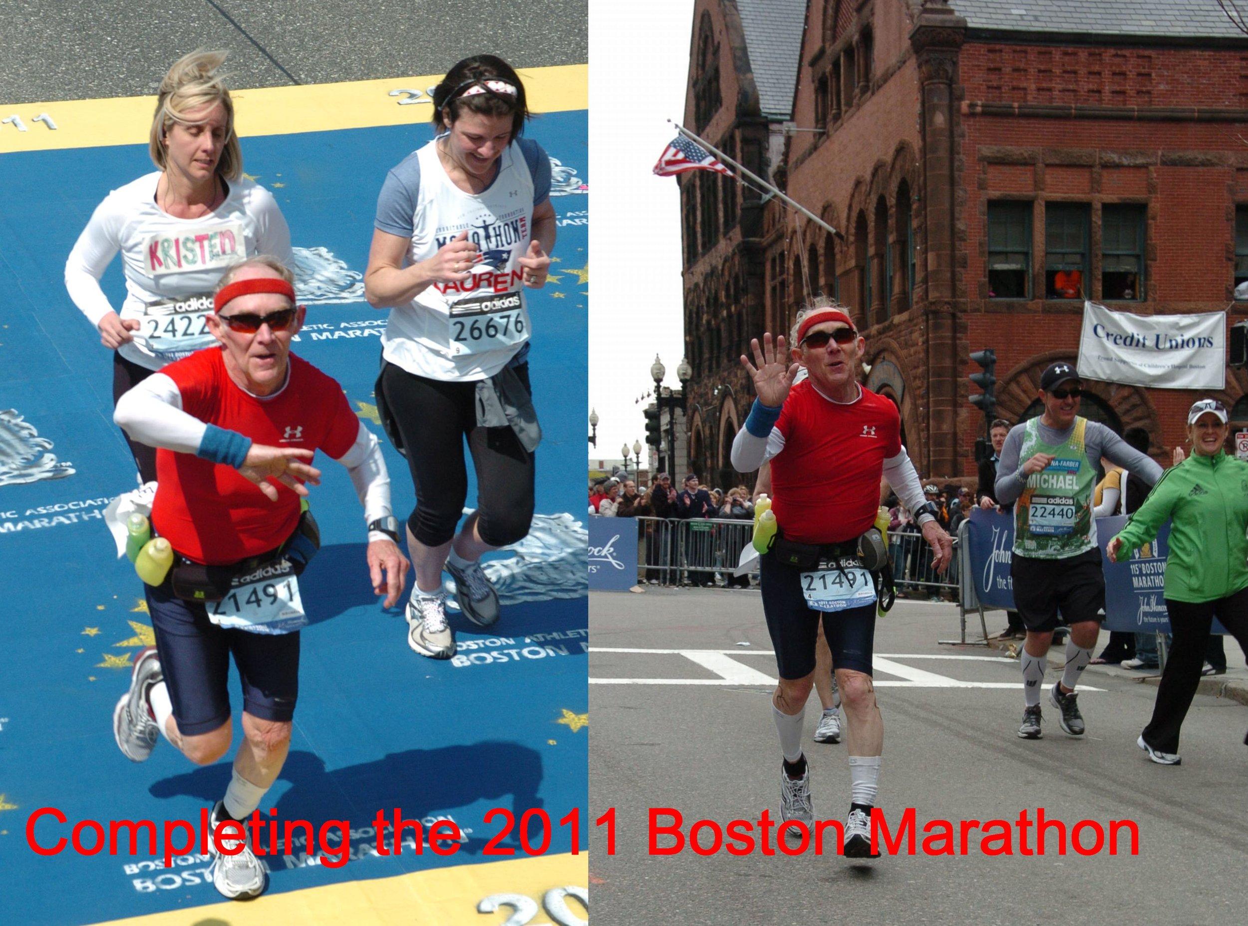 Joe Vicars, our guest on Episode 4, completes the Boston Marathon.