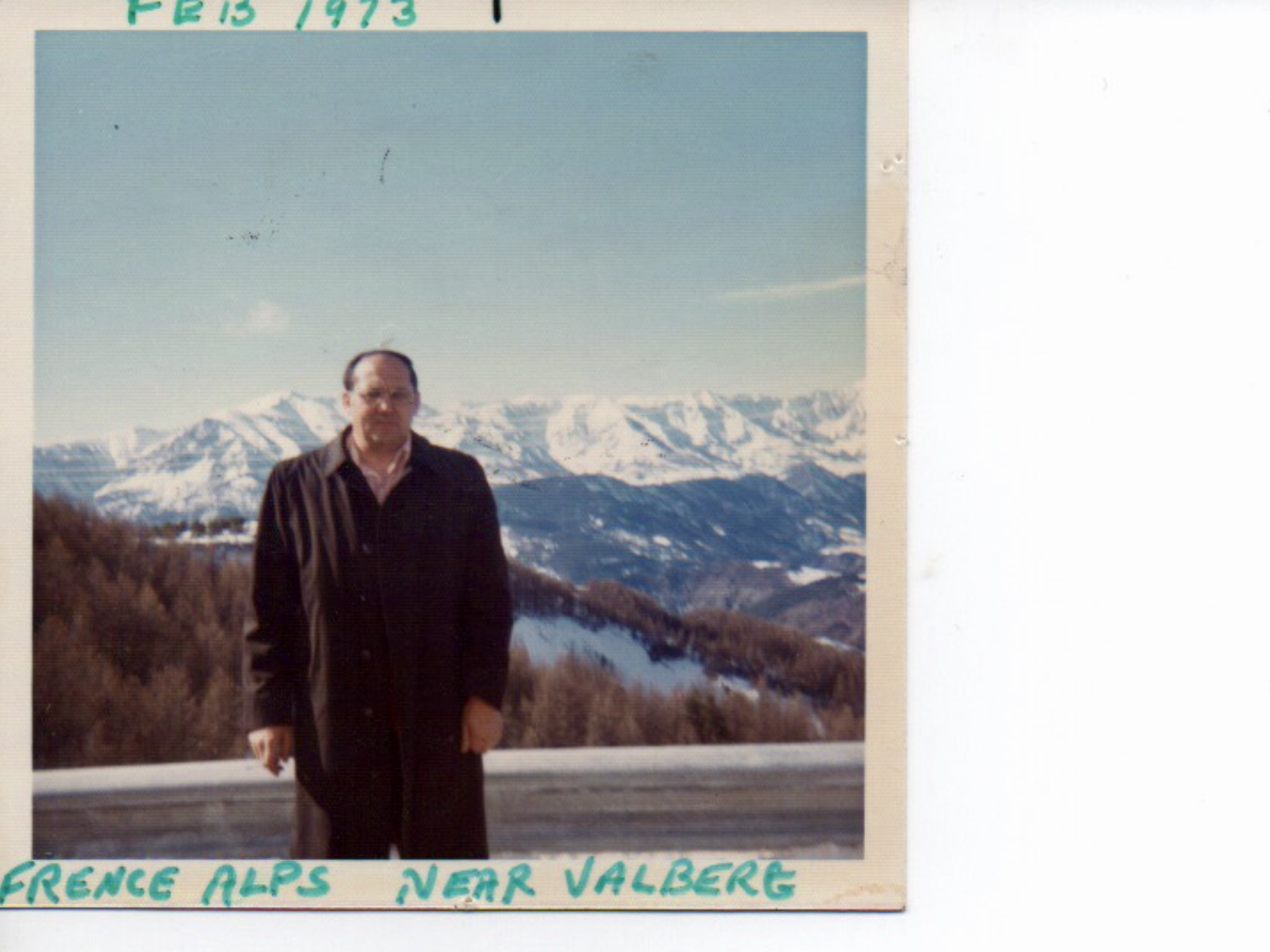 Roland in the French Alps near Monte Carlo, 1973. This is from their first overseas trip.