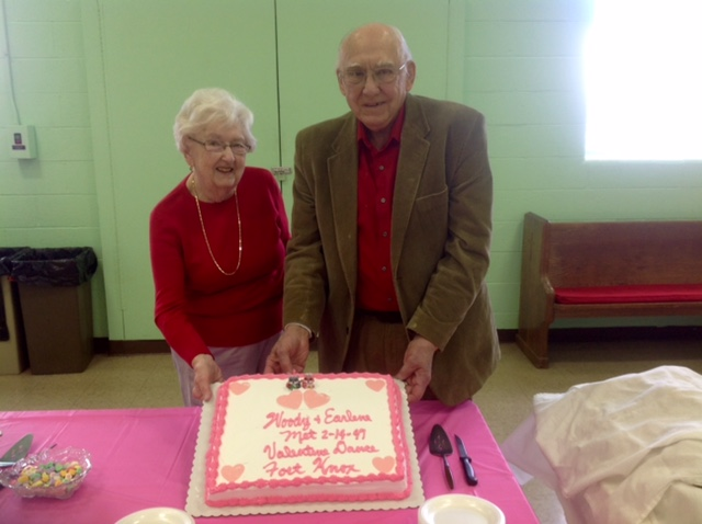 """Earlene and Roland """"Woody"""" Davis celebrating in 2016 the anniversary of the night they met at their church Valentine's celebration (put on by the youth group). This Valentine's, 2017, is the 70th anniversary of their meeting."""