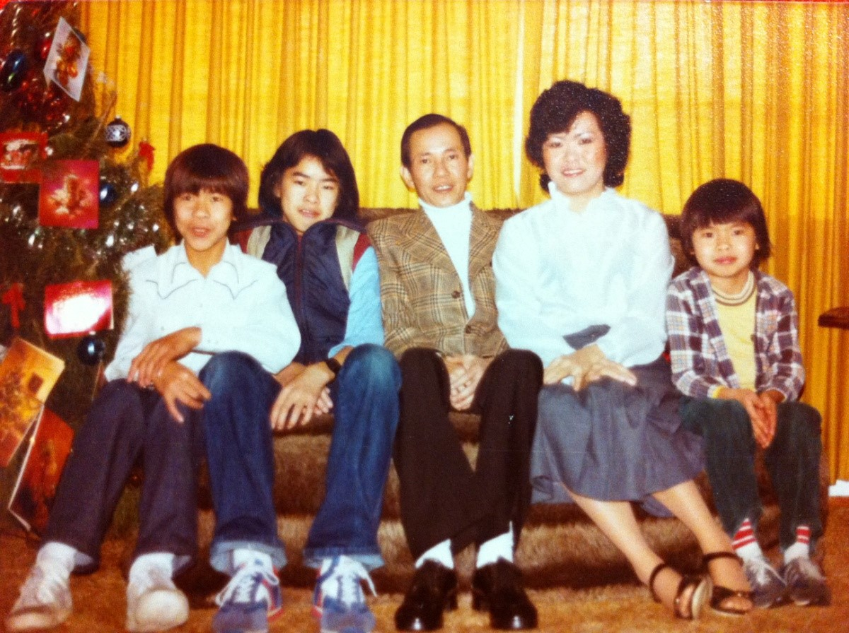 The Lo family, about 1981. You can tell because this photo is so beautifully 1981.