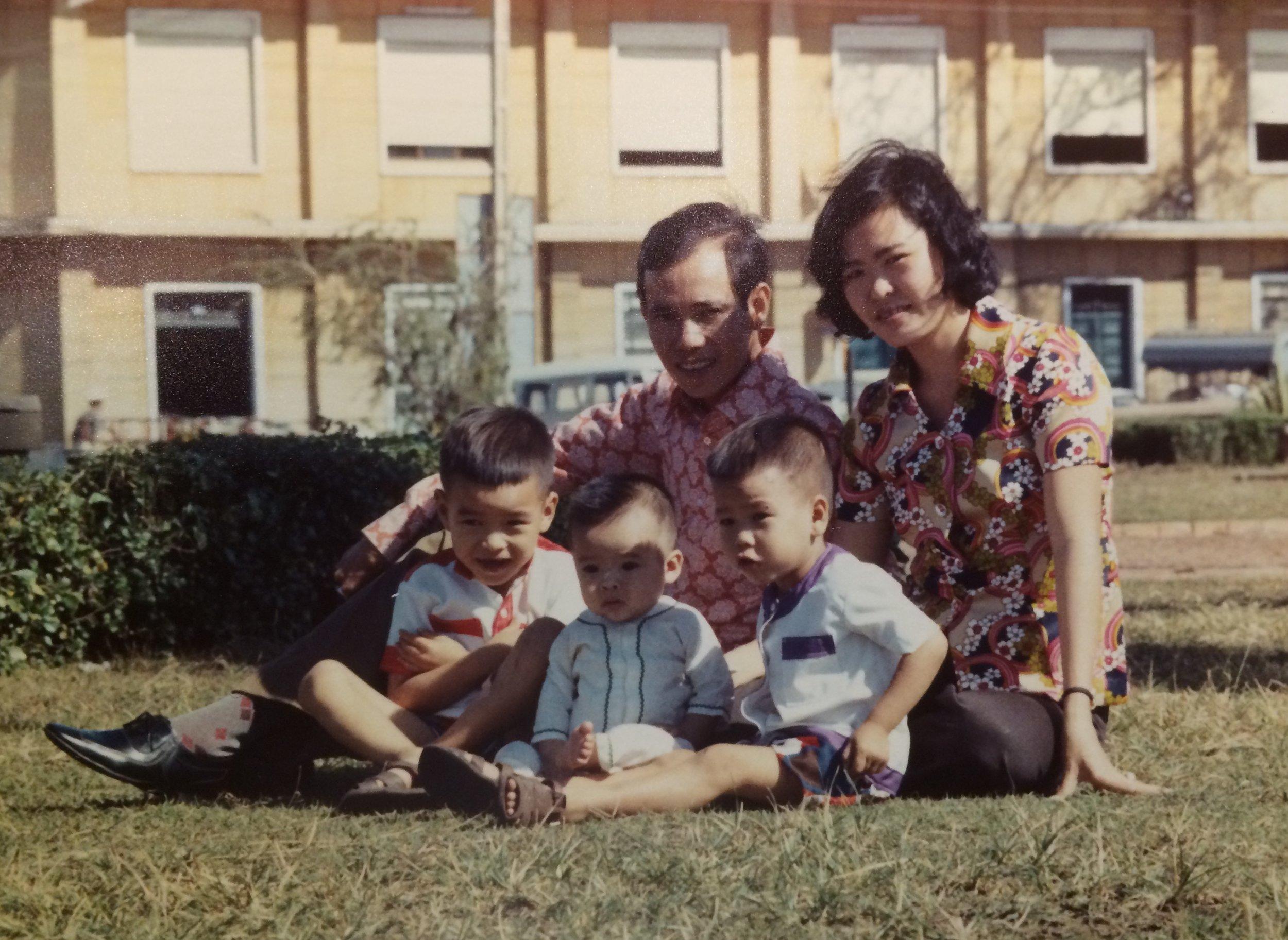 Lam, Ann, and the three boys.