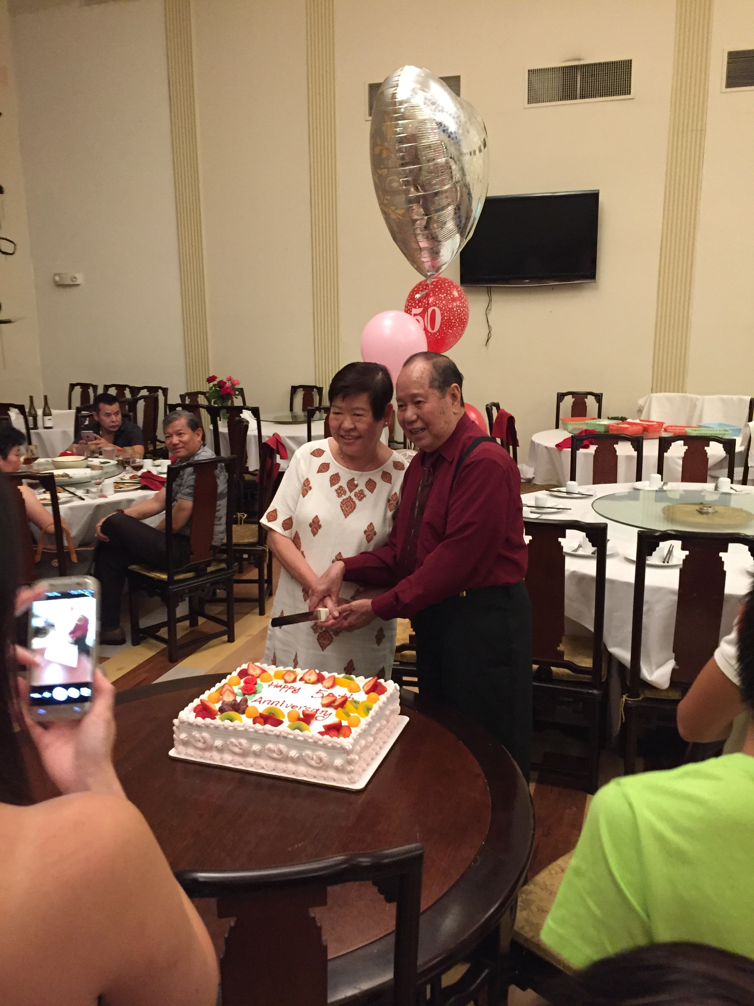 Lam and Ann celebrate their 50th wedding anniversary in 2016.