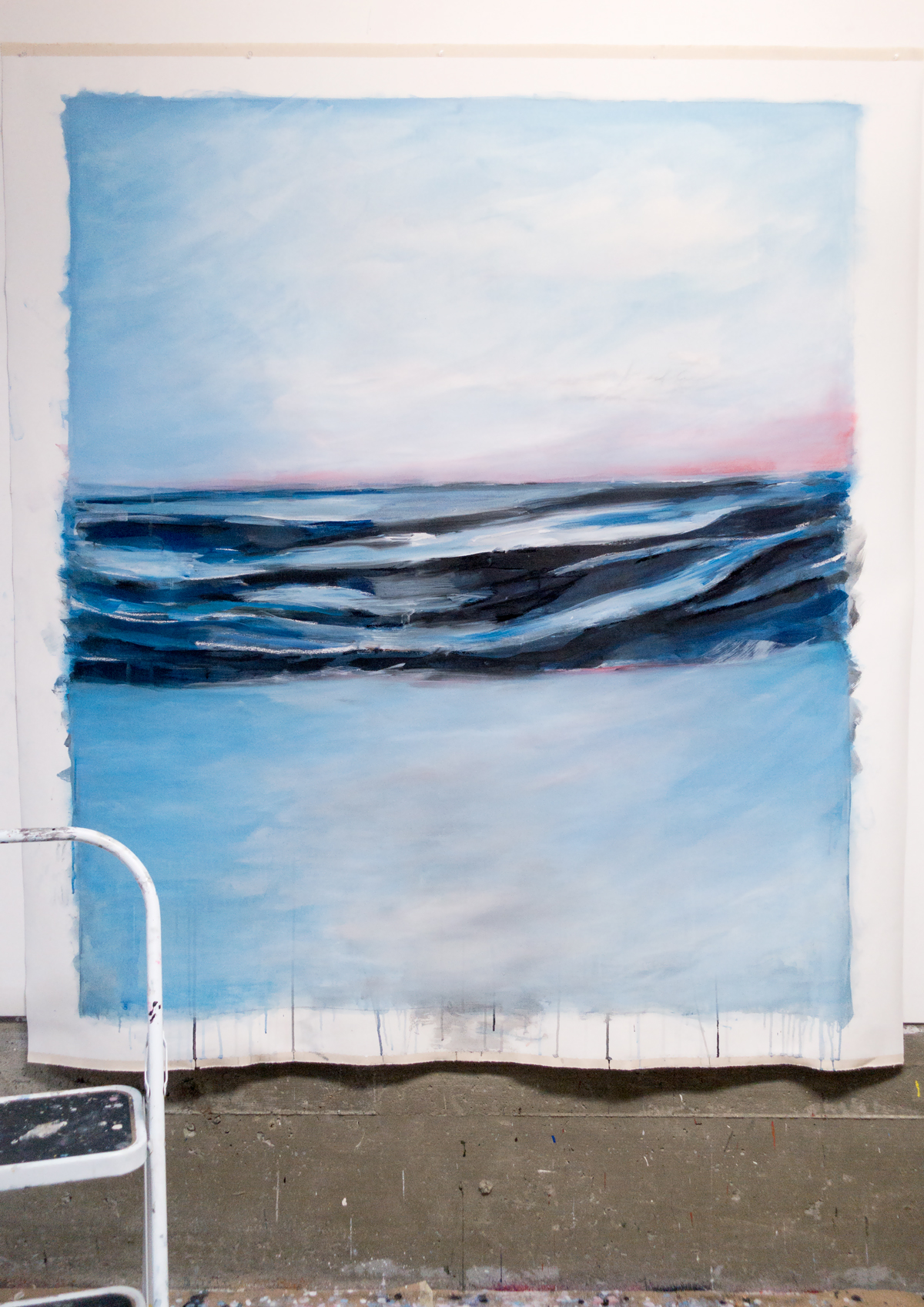 Blue Painting II (work in progress in the studio Sep-2016)
