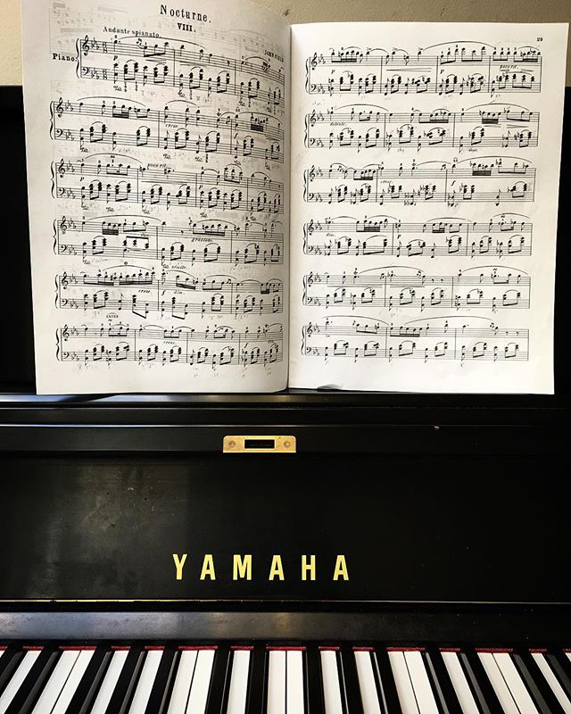 Like an old friend and teacher. John Field. I love how this score looks. I love everything about this piece. How it reminds me how much there is to love even in an imperfect world.