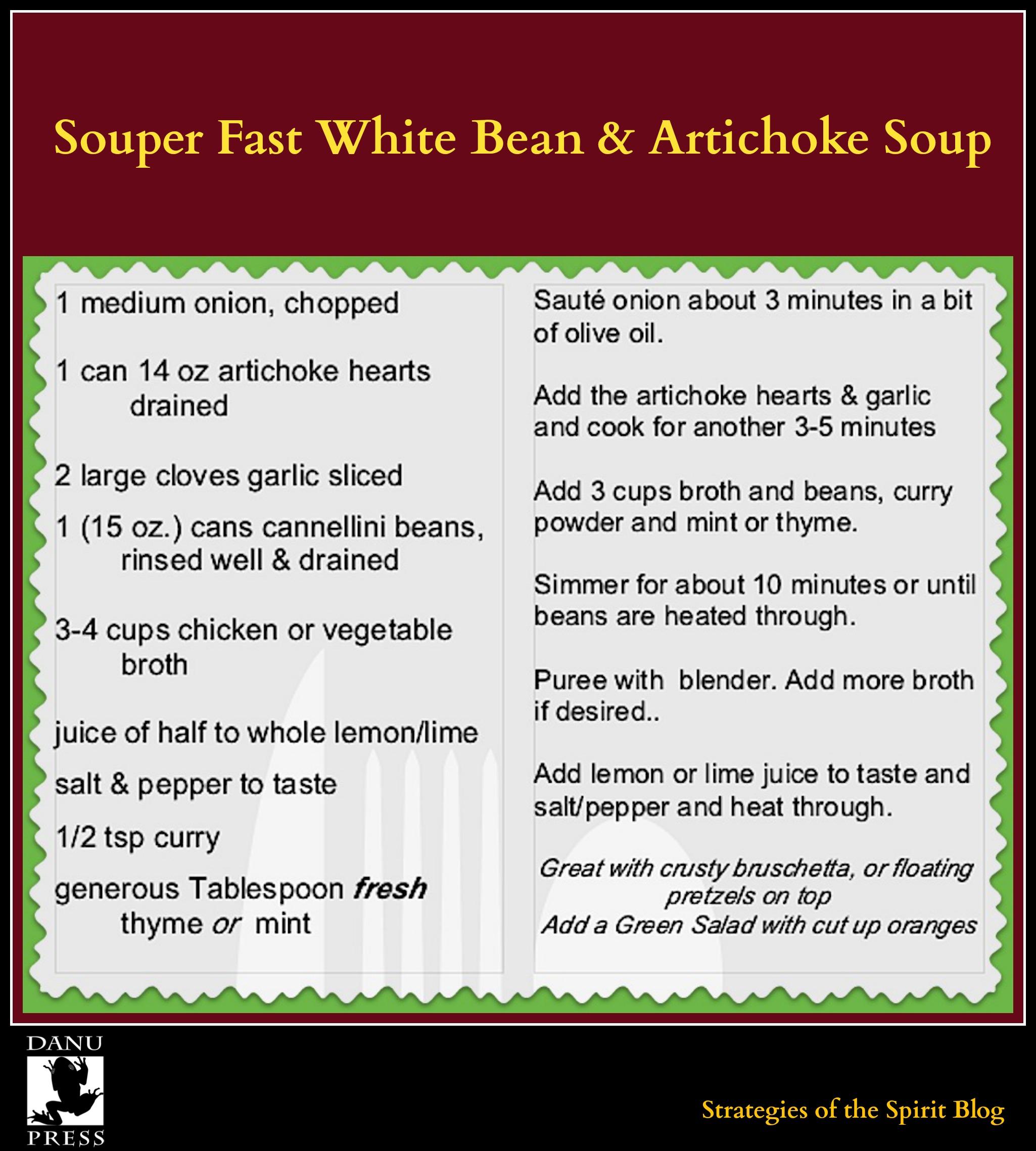 Souper Fast White Bean soup