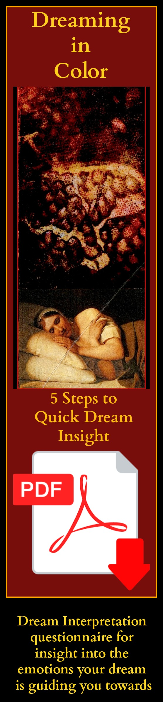 dreaming in color, dream interpretation, analyzing dreams, strategy of the spirit, strategies of the spirit, dream work