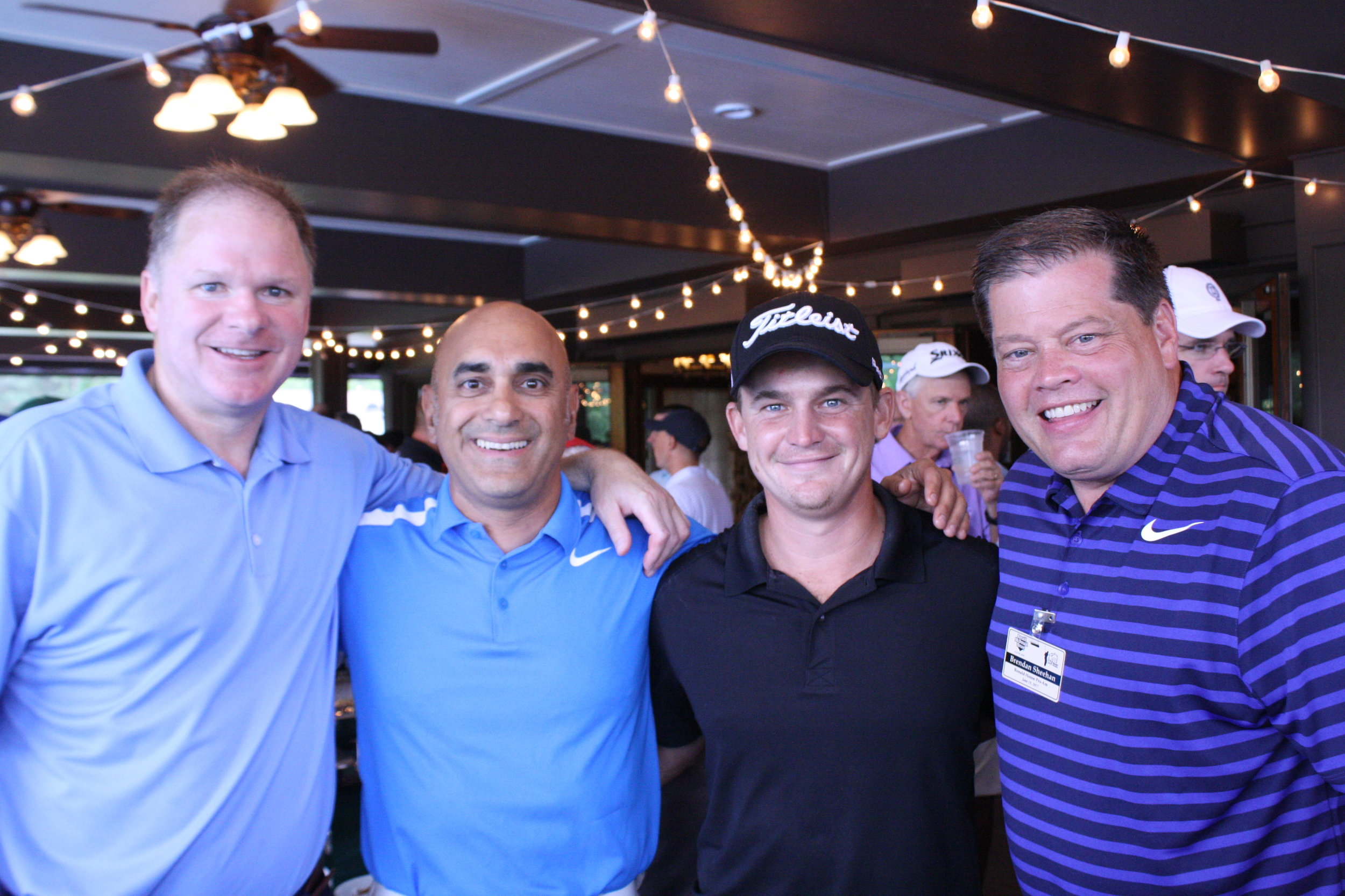 Amateurs with PGA Touring Pro Bud Cauley (second from right)
