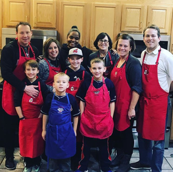 Chef April Thompson with Creech and Szczyglowski Families