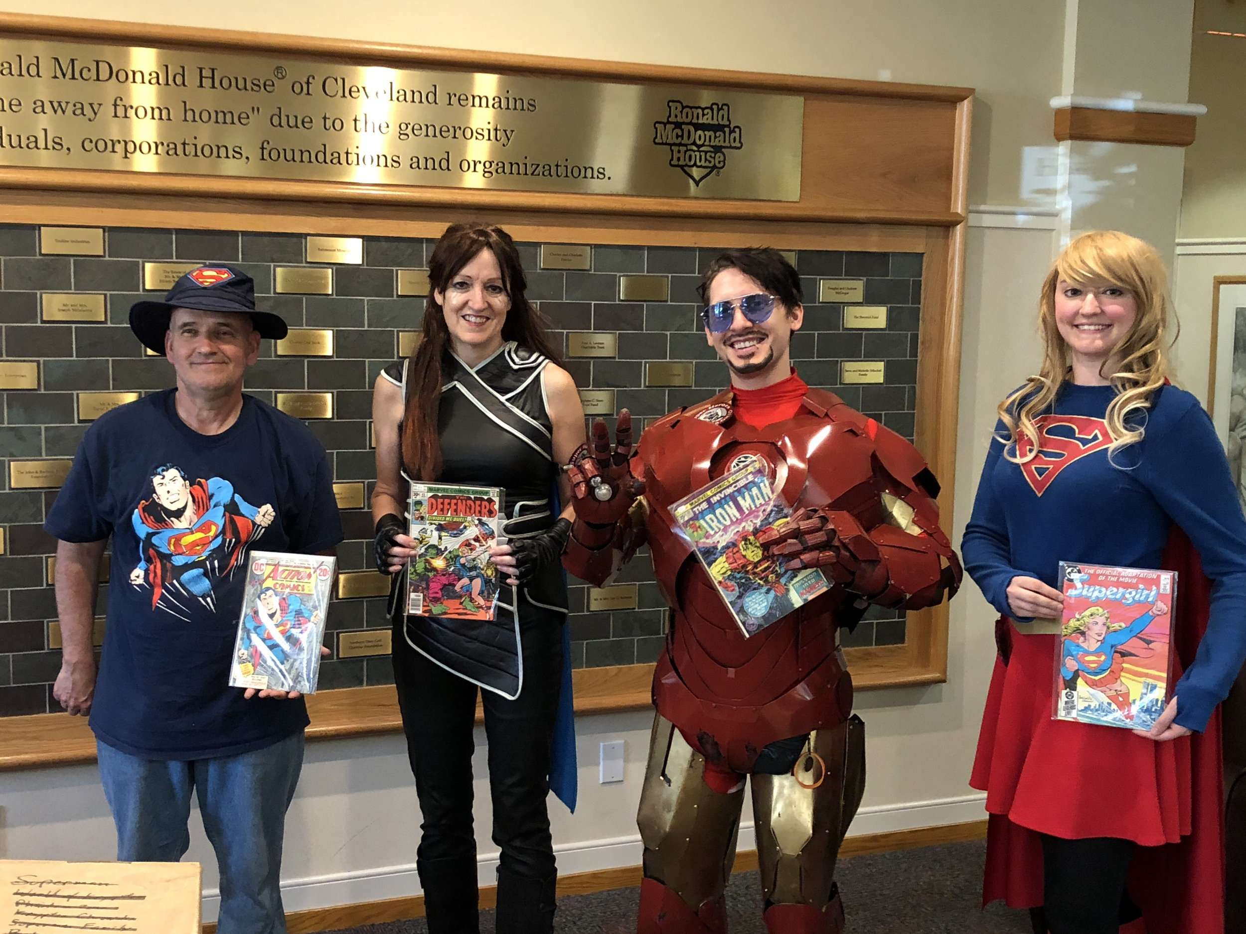 Bob Watson donates comic books to RMH and meets Super Heroes to Kids in Ohio