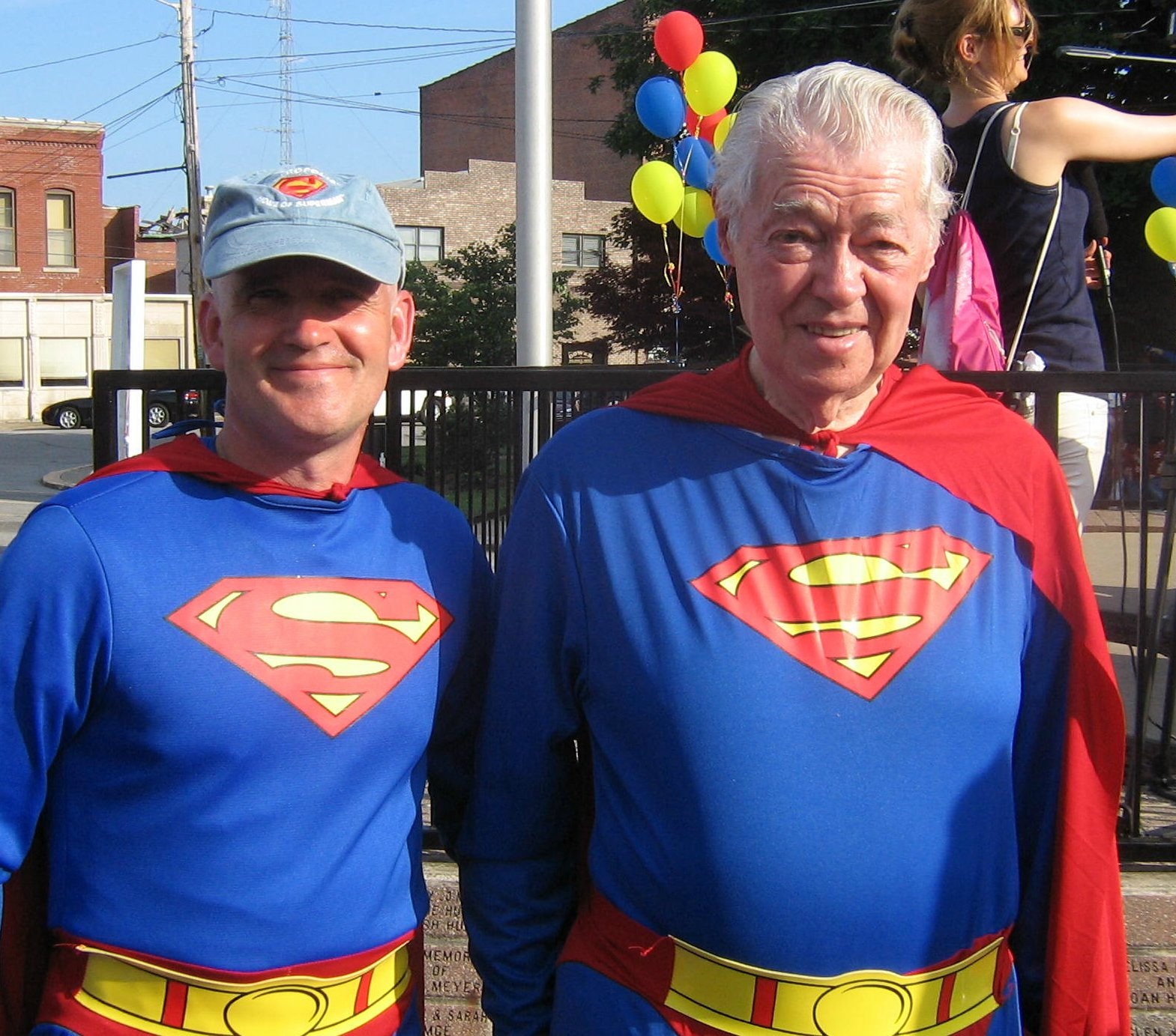 Bob (left) with comic book legend and famous Superman artist, Murphy Anderson (right)