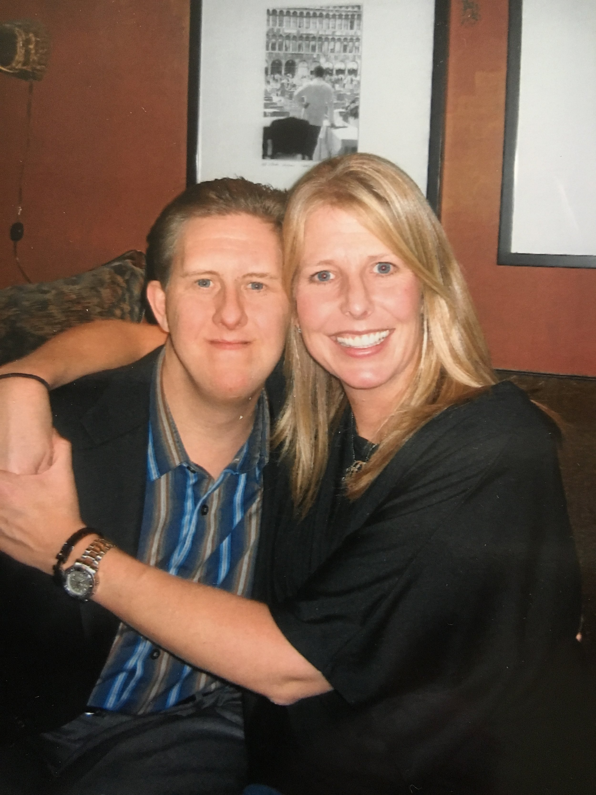 Scott (Scotty) Clegg with sister Tracy in 2005, 27 years after his battle with leukemia.