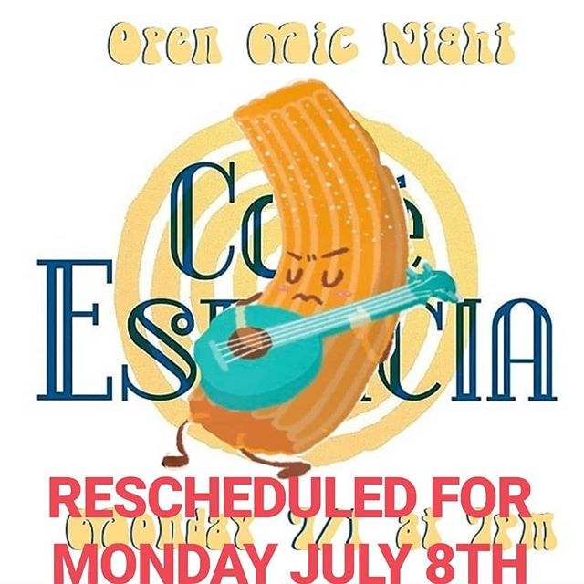 RESCHEDULED FOR MONDAY JULY 8TH