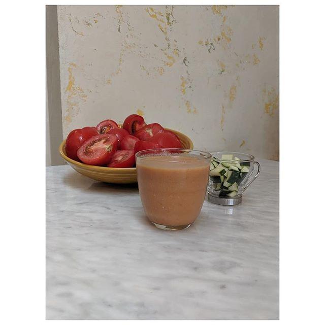 Stay cool as a cucumber today sipping on #gazpacho. 🥒🍅🥖 😎🆒 #caféesencia #cafédeconvivencia #convivencia #cafe #café #coffee #churrería #sourdough #churros #nyc #ridgewood #ridgewoodqueens #ridgewoodnyc #organic #biodynamic #breakfast #summer #ediblequeens #eeeeeats #forkyeah #food #instafood #munchies #vicenyc #spanish #mediterranean  @munchies #heatwave #yelpeatsnyc @yelpnyc #delahuerta #gazpacho