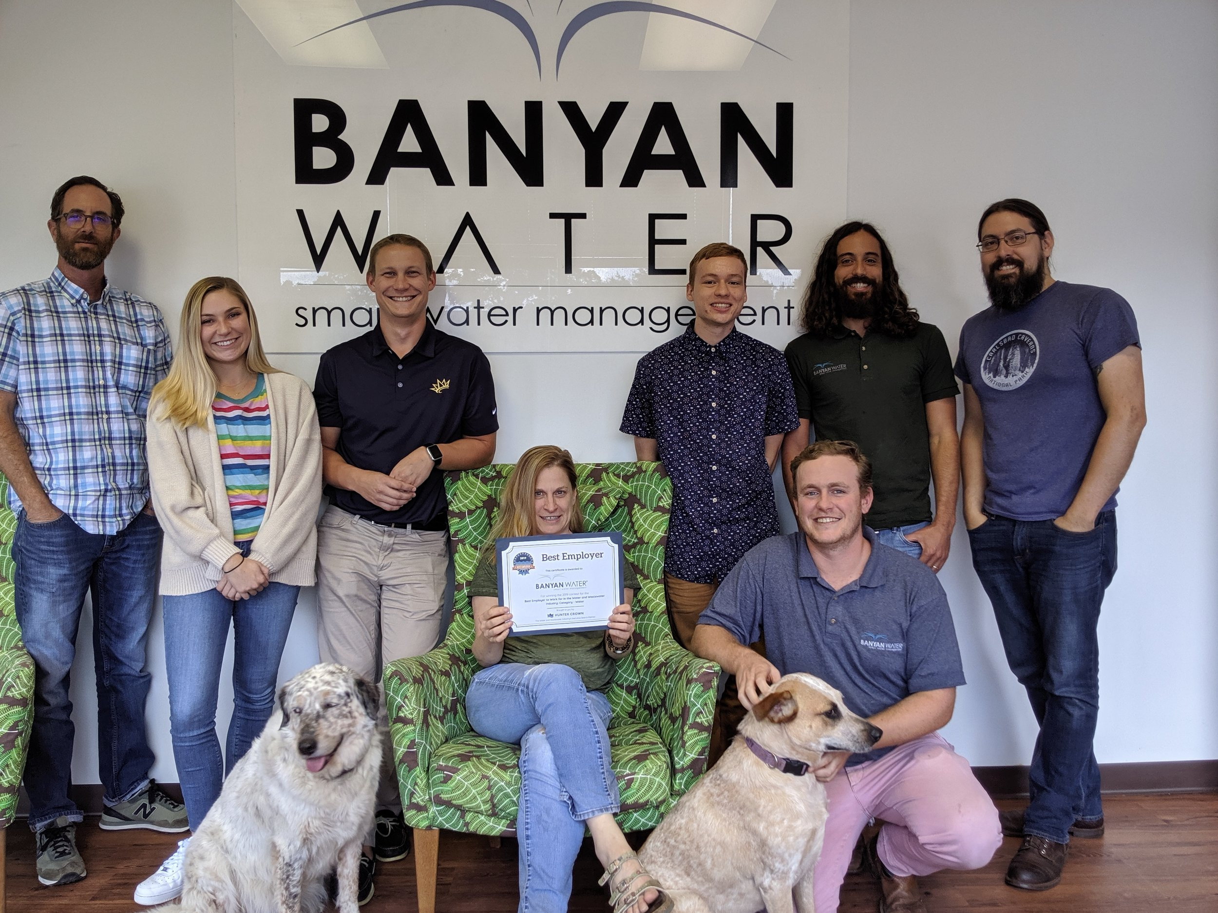 Banyan Water accepts Best Employer Award: Category - Water
