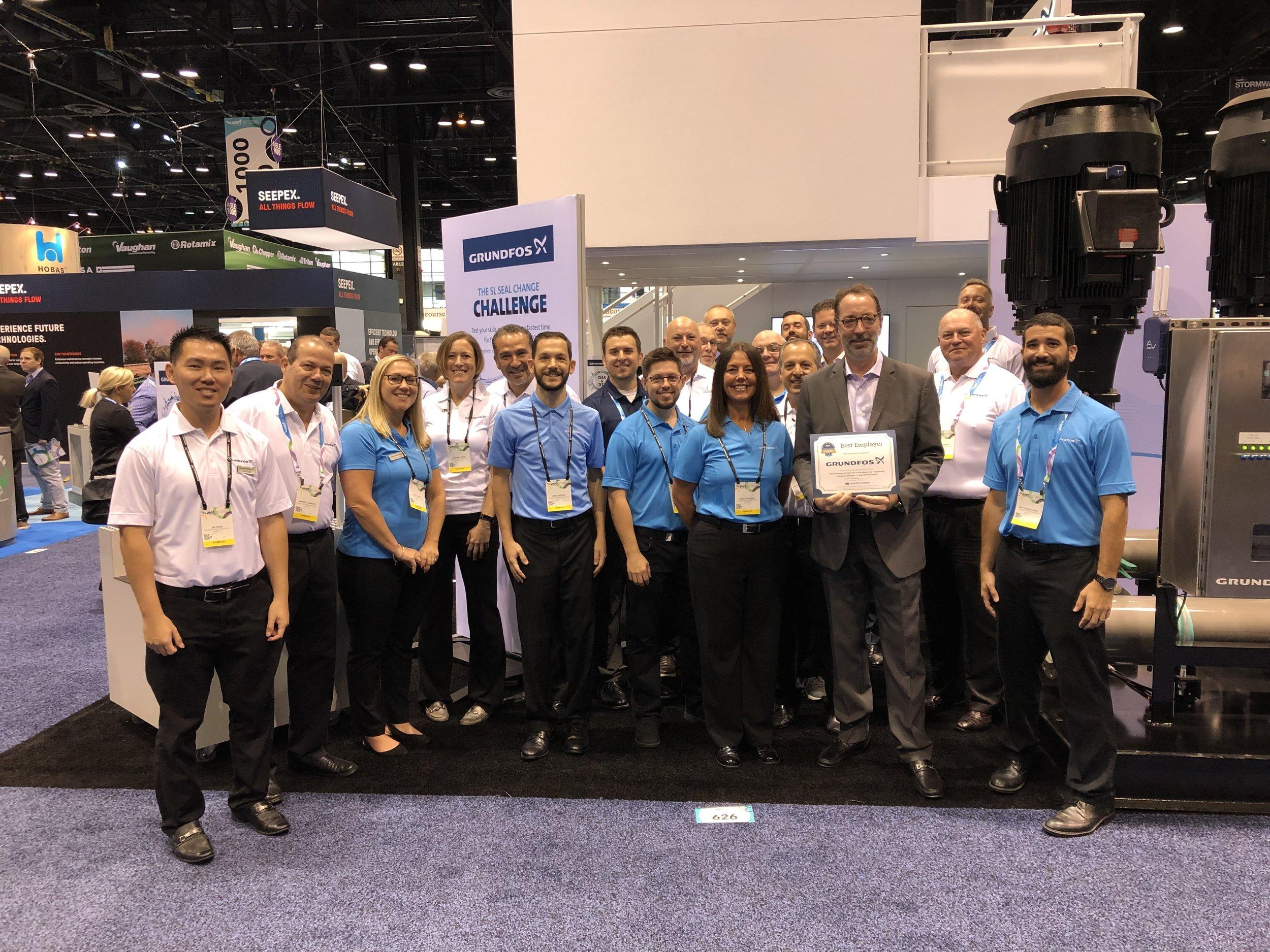 Grundfos accepts Best Employer Award: Category - Large (International)