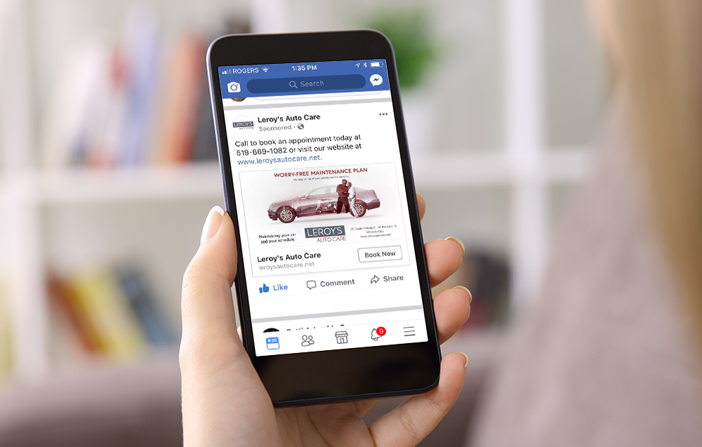 The social media ad campaign has been a great success, drawing positive comments and bringing new customers to the Leroy's Auto Care website.