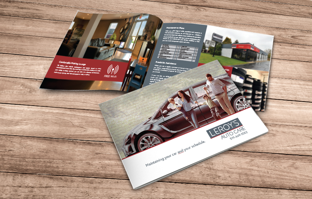 The new brochure features professional photography, design and copywriting.