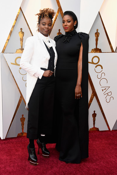 "Dee rees (left), nominated for best adpated screenplay for ""Mudbound."" Her partner (right), Sarah Broom"