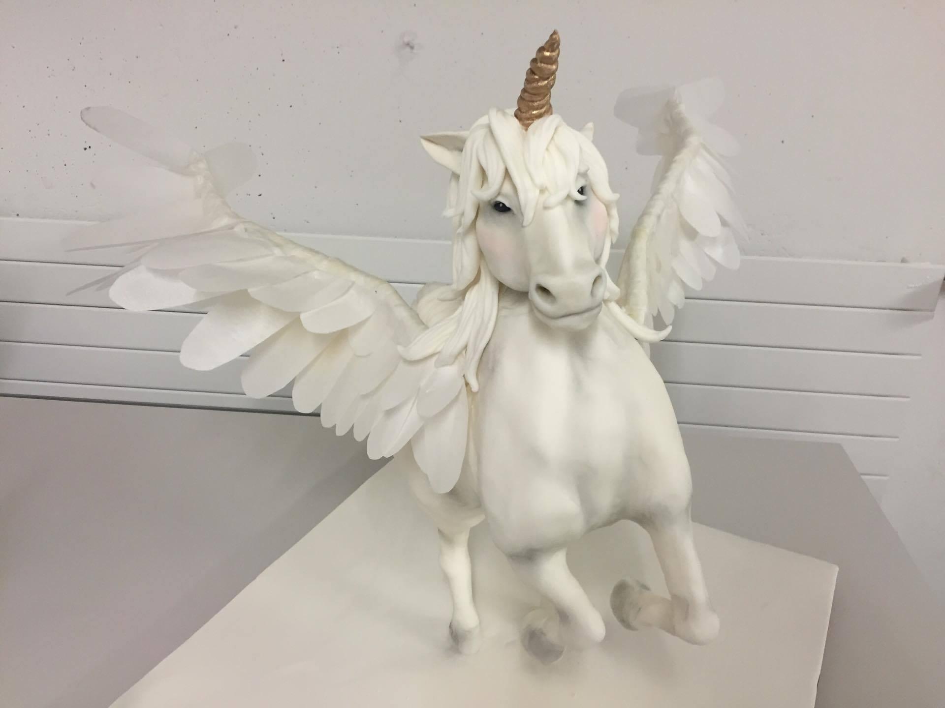 Pegasus structure cake