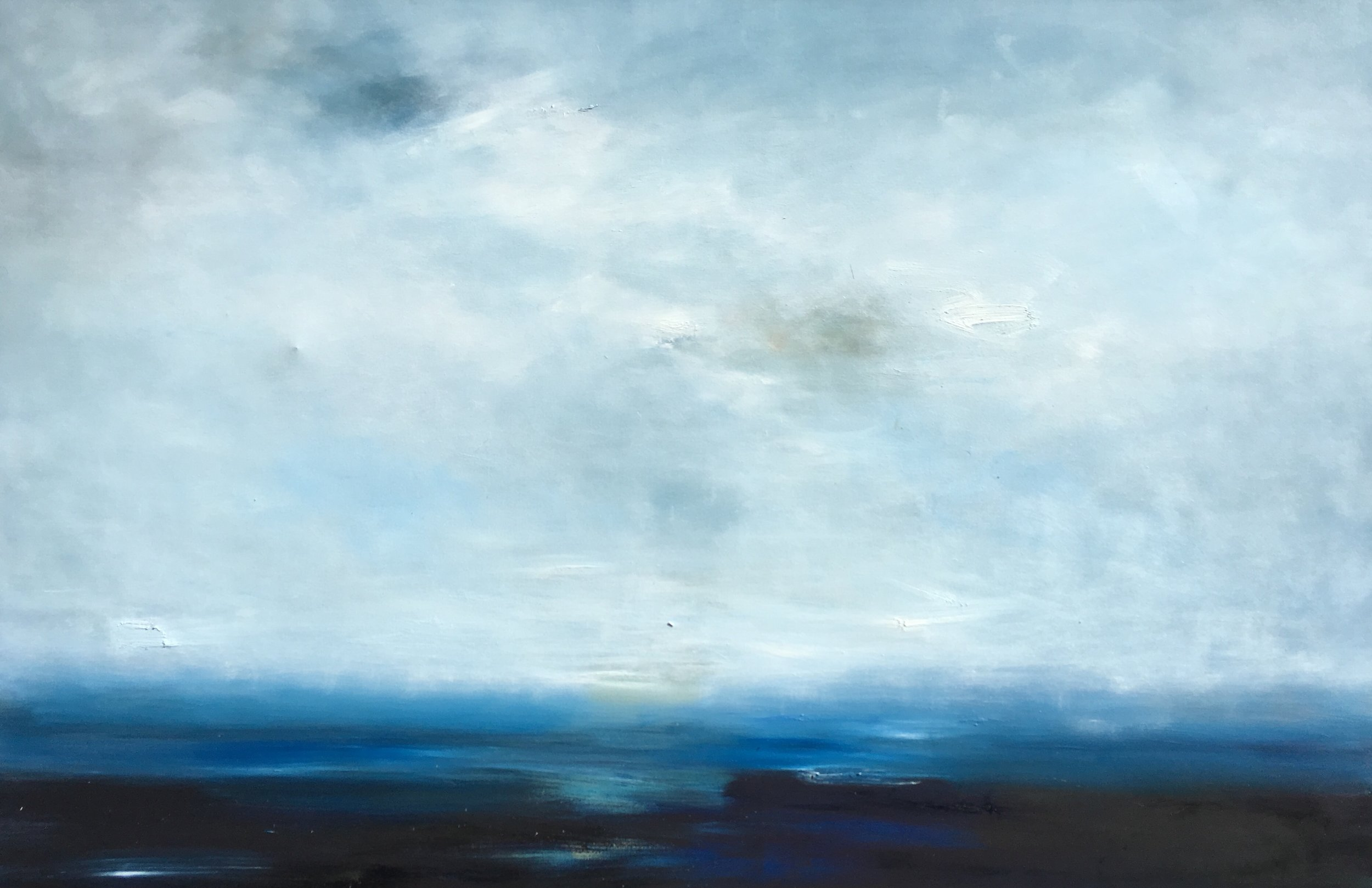 "48x72 oil on canvas framed,""Pacific Blue"""