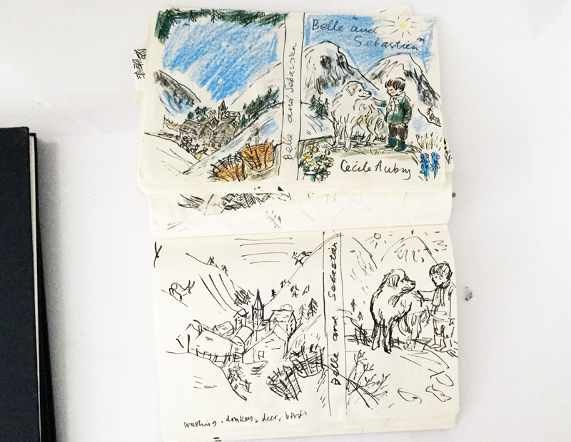 These are rough sketches of the cover that I showed to Alma, the publisher.