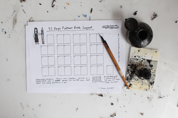 32 Page Picture Book Layout - Are you planning to write and illustrate a picture book? One of the best ways to plan your book is to make a storyboard. This is a downloadable template which you can print out many times and scribble your story into shape.