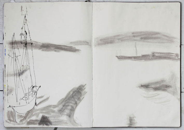Helen Stephens (drawn in the drizzly rain) Húsavík