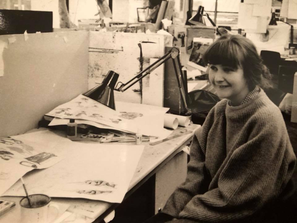 Baby faced me at Glasgow School of Art 1993