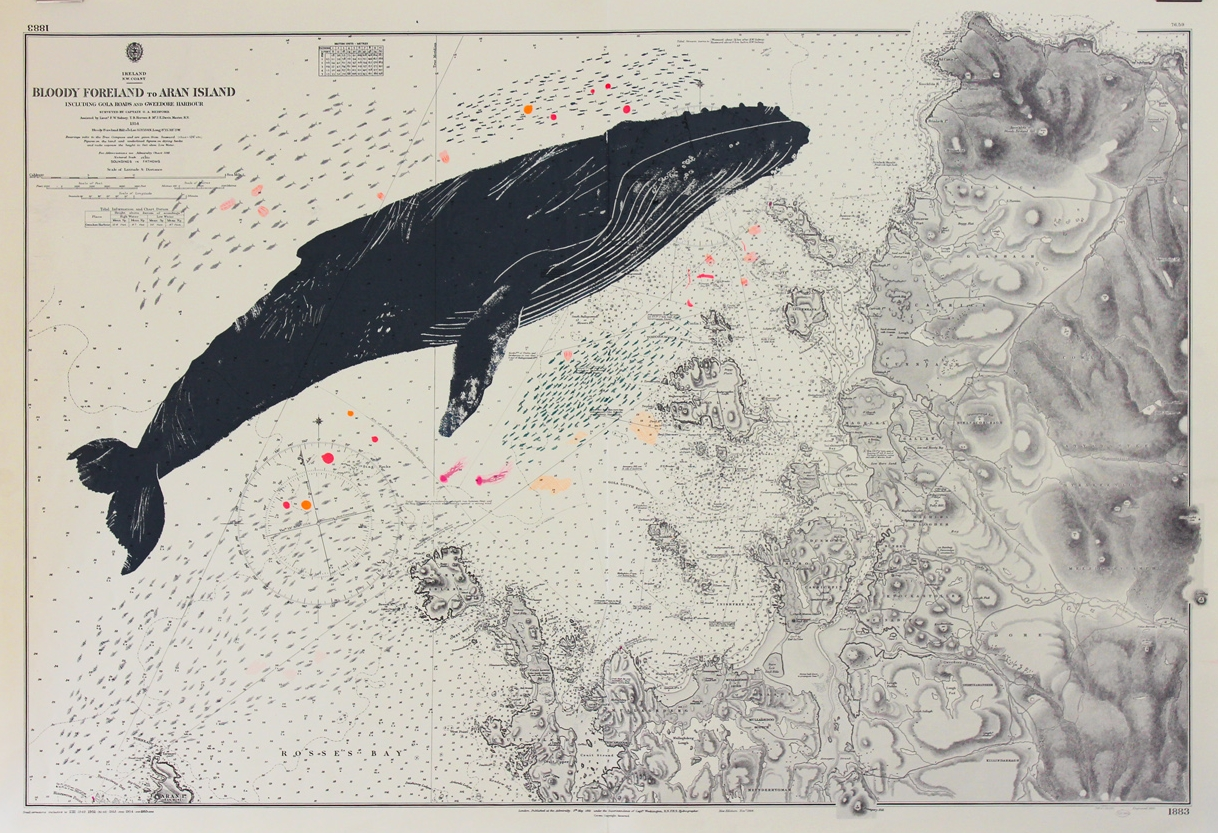 Whale Screen print by  Gerry Turley