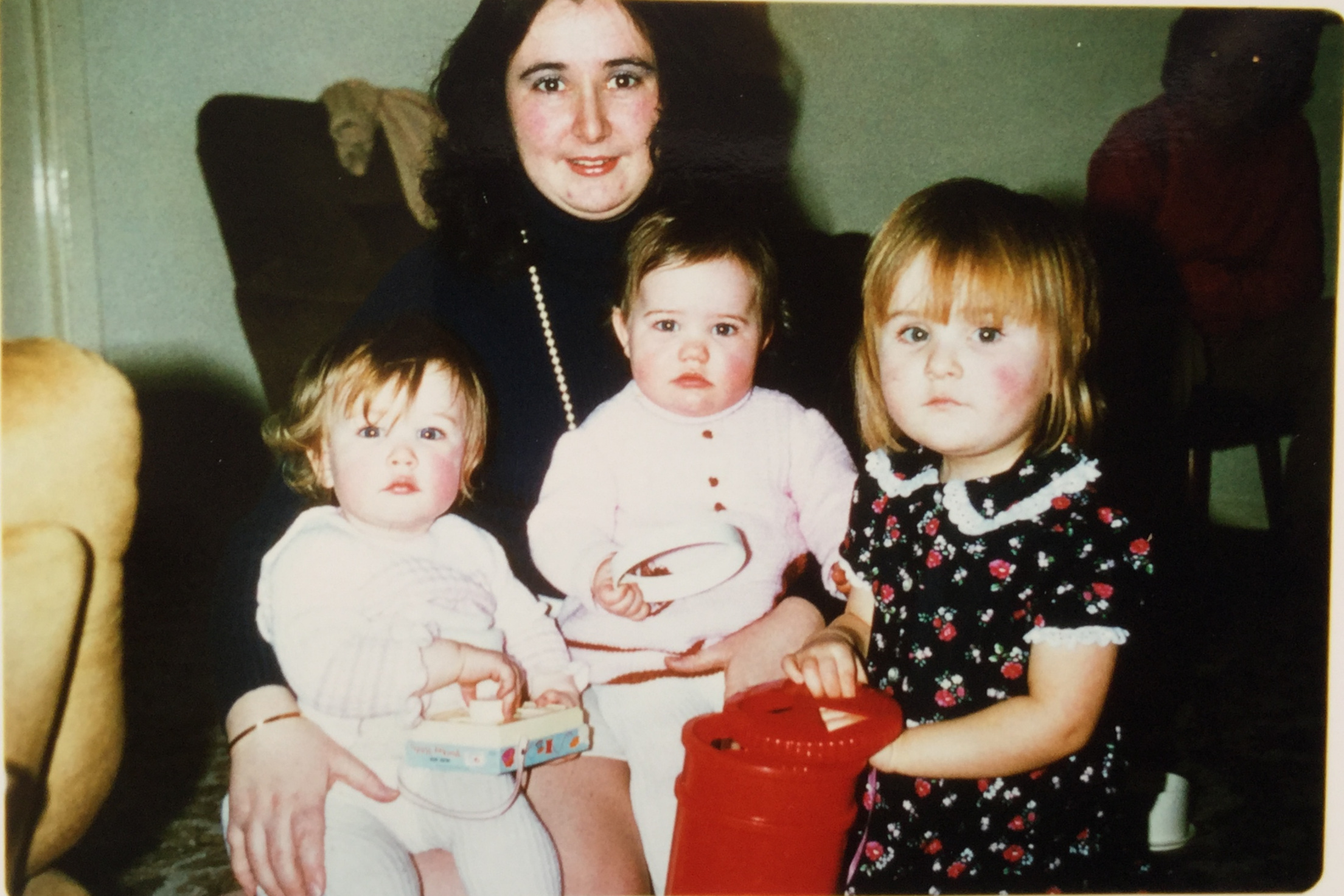 My sister, my cousin, my mum and me on the right.