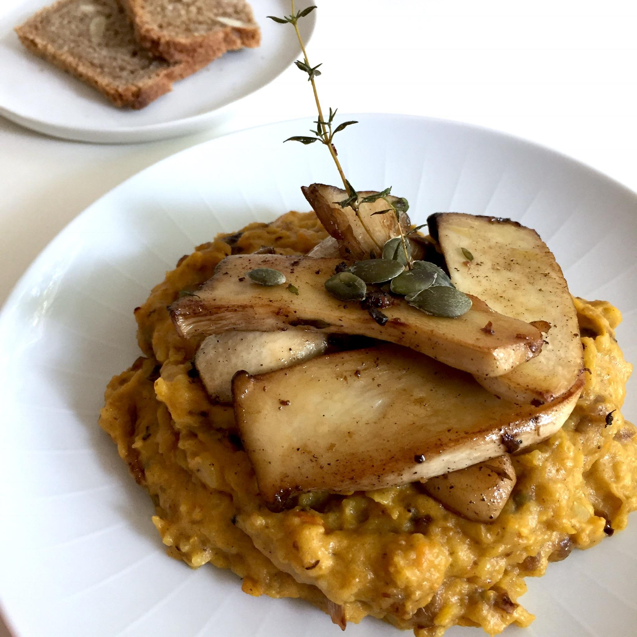 Kartoffel-Kürbispüree
