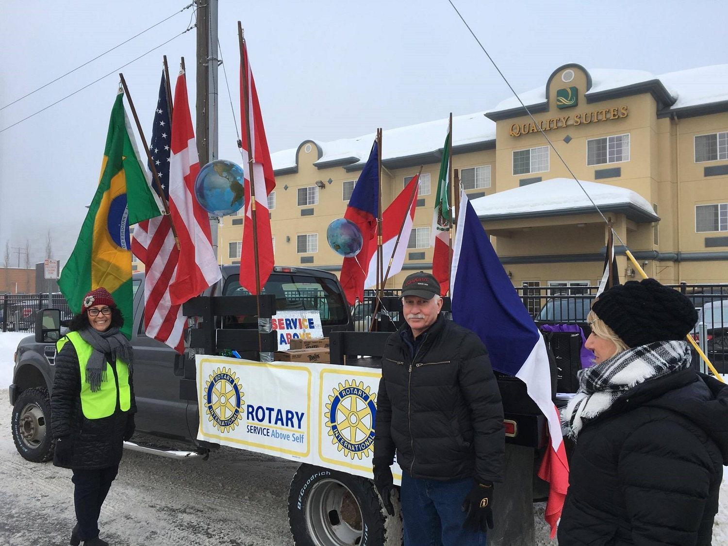 Julie with Rotary Float